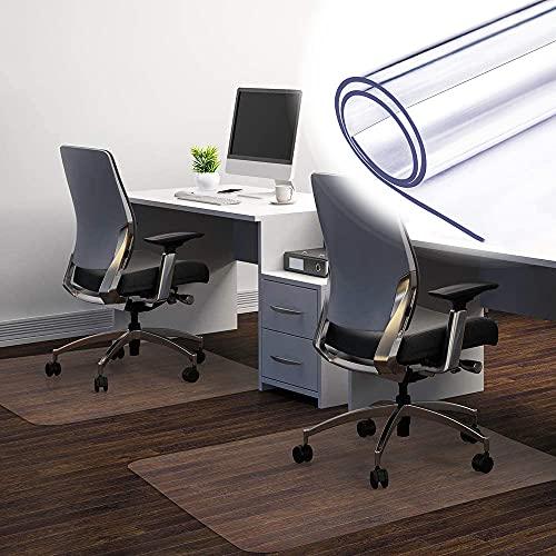 Yibcn Alfombrilla para silla de oficina en casa, protector de piso rectangular transparente, alfombrillas para escritorio de ordenador, fácil deslizamiento para sillas, almohadillas antideslizantes