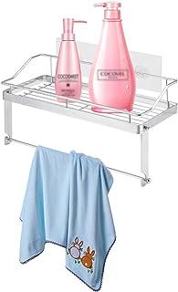 Grande salle de bain en acier inoxydable Shampooing Rangement Cuisine Paniers Organisation Mur Forte Sucker Racks