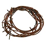 Nicky Bigs Novelties 8 Foot Fake Rusted Barbed Wire Decoration, Brown