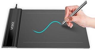 VEIKK ペンタブレット 6*4インチ 2mm厚さ超薄型ペンタブ OSUなどゲームにも最適 イラスト入門用 8192レベル筆圧感度+充電不要ペン 黒 S640