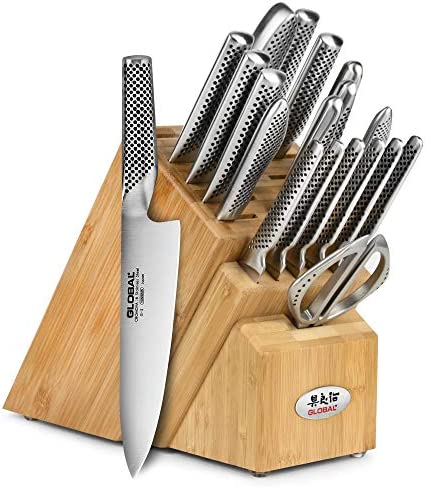 Global Knife Set 20 Piece Bamboo Block product image