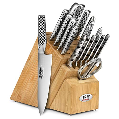 Global Knife Set - 20 Piece - Bamboo Block