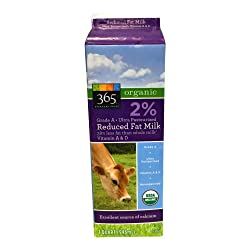365 Everyday Value, Milk Reduced Fat Organic, 32 Ounce