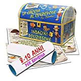 Caccia al tesoro sotto forma di indagine poliziesca - per bambina 8-10 anni - per feste di compleanno - giochi per bambini