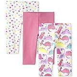 The Children's Place Toddler Girls Capri Leggings 3-Pack, Simplywht, 4T