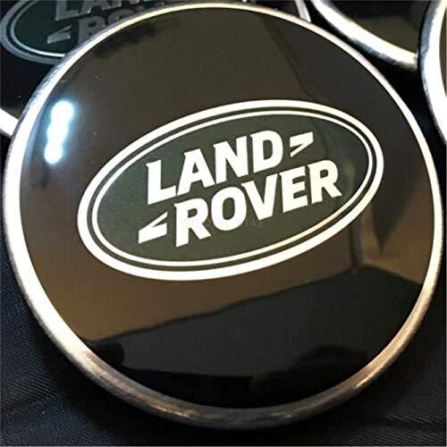 WYJBD Cubierta de la Tapa del Centro del neumático del Metal de 4 unids para la Gama de Tierras Rover Sport, Wheel Wheel Center Cover Stickers