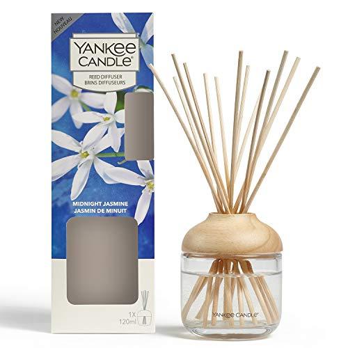Yankee Candle Reed Aroma Diffusor, Midnight Jasmine, 120 ml, bis zu 10 Wochen anhaltender Duft
