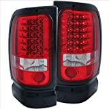SPPC Red/Clear LED Tail Lights Assembly Set For Dodge Ram - (Pair) Driver Left and Passenger Right Side Replacement