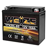 Weize YTX20L-BS High Performance Power Sports- Maintenance...