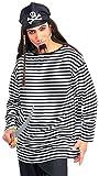 Forum Novelties Men's Striped Costume Shirt, Black/White, Standard