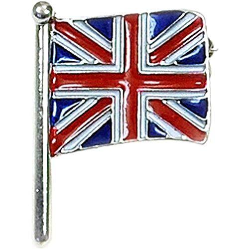 FJ871(D4B) - THE OLIVIA COLLECTION Brosche Union Jack Flagge auf Metallbasis