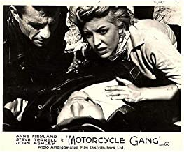 Motorcycle Gang Original Lobby Card 1957 Bikers Anne Neyland Steve Terrell Rare