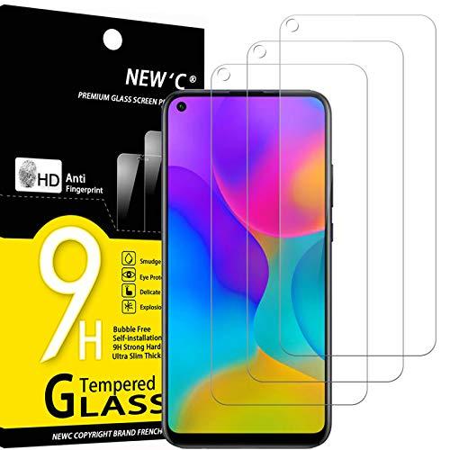 NEW'C 3 Unidades, Protector de Pantalla para Huawei Honor Play 3, Enjoy 10, Antiarañazos, Antihuellas, Sin Burbujas, Dureza 9H, 0.33 mm Ultra Transparente, Vidrio Templado Ultra Resistente