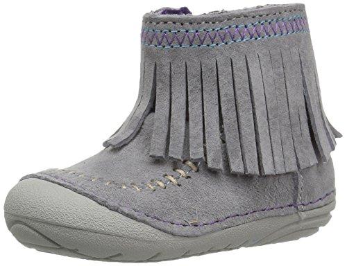 Stride Rite Baby-Girl's Soft Motion Tasha Fashion Boot, Grey, 3.5 Wide Toddler