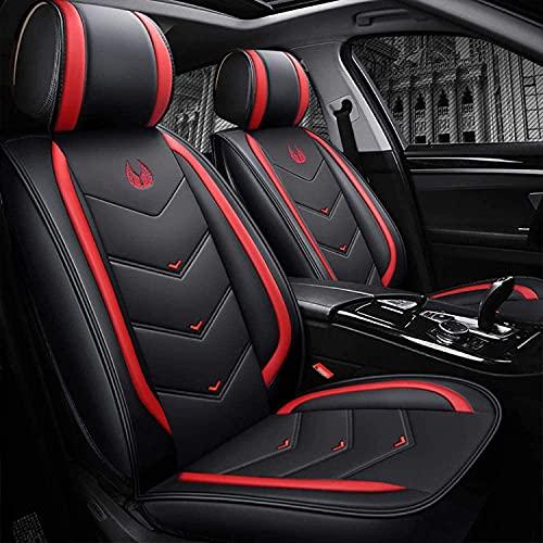 Fundas de asiento de coche de piel sintética para Citroen C4 CACTUS Universal, protector de asiento de coche delantero trasero, juego completo personalizado, compatible con airbag de 5 asientos, impe