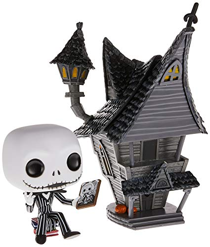 Funko - Pop! Town: Nightmare before Christmas - Jack Figurina de Vinil, Jack's House, Multicolor (42599)