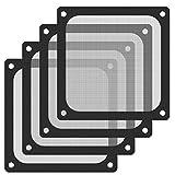 120mm Fan Dust Filter Mesh Magnetic Frame PVC Computer PC Case Fan Dust Proof Filter Cover Grills Black-4 Pack