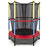Kids Jumping Trampoline with Enclosure