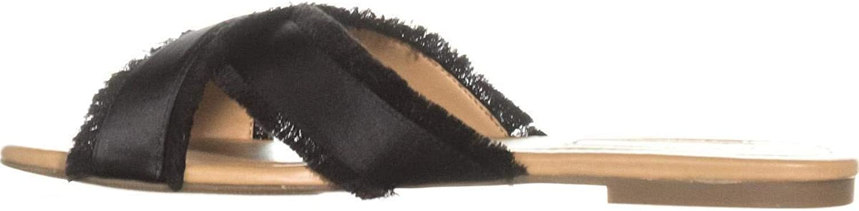 INC International Concepts Womens Gracine Open Toe Casual Slide, Black, Size 7.5