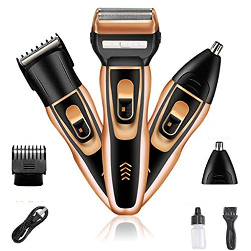 Review Of Reciprocating Electric Shaver Rechargeable Dry Battery Dual-Purpose Haircut Nose Hair Clip...