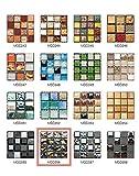 50 Pezzi 3D Adesivi per Piastrelle Mosaico Mattonelle Sticker Autoadesivo Mattonelle Parete PVC Impermeabile per Bagno Cucina Piastrelle Wall Stickers (10*10CM*50pcs, MSCO56)