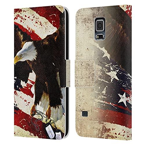 Head Case Designs Licenza Ufficiale Jason Bullard Il Prezzo della libertà America Cover in Pelle a Portafoglio Compatibile con Samsung Galaxy S5   S5 Neo