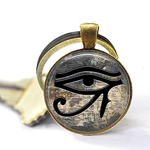 Ägyptisches Auge Anhänger, Auge des Horus, Symbol des Schutzes, alles sehende Auge, Halskette, Geschenk-Schlüsselanhänger