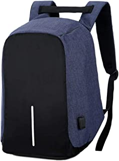 XFentech Unisex Laptop Backpack - USB Charging Port Trip Bag Business Laptop Backpack,Blue,One Size