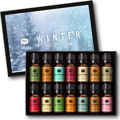Winter Set of 14 Premium Grade Fragrance Oils - 10ml