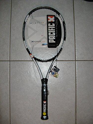 Pacific X Force Pro–Cordaje de Raqueta de Tenis con Funda, Color Negro y Blanco, tamaño 2: (4 1/4)