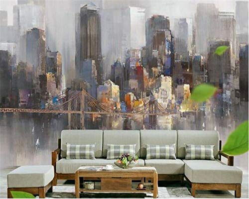 Decoratieve Tafelkleed Behang Abstract Olie Schilderen TV Sofa Achtergrond Muur Behang voor Woonkamer Slaapkamer Woonkamer Huisdecoratie DIY Vormen/strepen 350 * 260CM