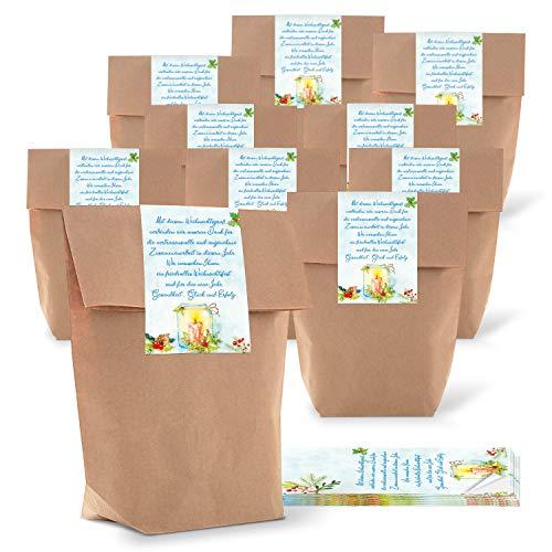 Logbuch-Verlag 25 bolsas pequeñas de papel para regalo, 16,5 x 26 x 6,5 cm, regalo para clientes, Navidad, empleados, regalos de colegas, velas