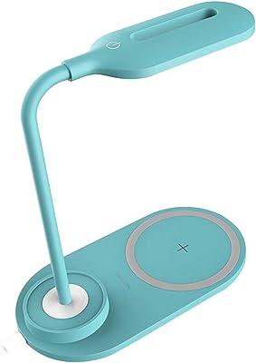 LED Lámpara de Escritorio, LED Carga Inalámbrica Wireless y Puerto ...
