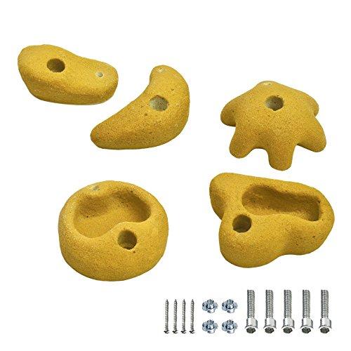 FATMOOSE GrabOn XL 5 Klettersteine Gelb, ca. 10cm