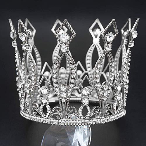 Corona dorada para decoracin de tartas de cumpleaos, decoracin para el pelo de la novia, decoracin de torta redonda para adultos