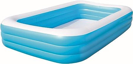 piscina hinchable jacuzzi Piscinas Inflables Engrosadas De PVC |Piscillas Rectangulares Adultas De Remar Grandes |Aire Libre Agua Fun Multi-Person Set Fast Pool ( Color : Blue1 , Size : 305*180*60 )