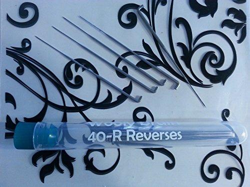 40R Dozen (12) Needle Felting Needles - 40-Reverses for Fur and Color Blending