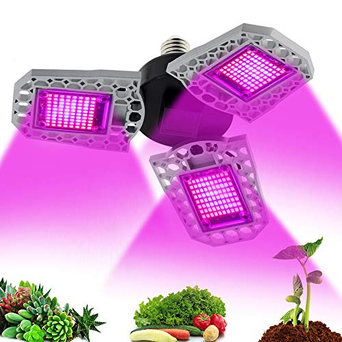 ZMHS Full Spectrum LED Grow Light, LED 100W 200W 300W Phytolamp, Deformable Waterproof LED Grow Light, for Plant Indoor Flower Hydroponic Grow Tent,E27,126Leds