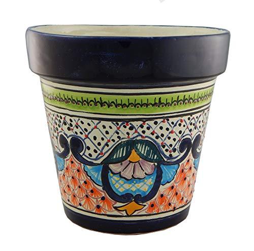 Mexikanischer Talavera-Übertopf aus Keramik, traditionelles Design, handgefertigt, #02