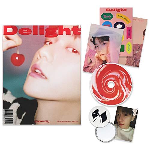 EXO BAEKHYUN 2nd Mini Album - Delight [ CHEMISTRY ver. ] CD + Booklet + Folded Poster(On pack) + Postcard + Sticker + Photocard + OFFICIAL POSTER + FREE GIFT / K-POP Sealed
