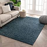 Well Woven Solid Color Light Blue Soft Shag Area Rug 3X5 4X6 (3'11' X5'3)