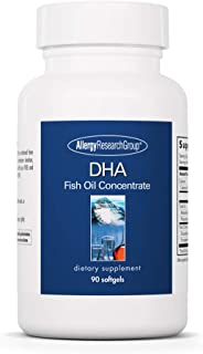 Allergy Research Group - DHA - Fish Oil Concentrate - Omega 3, EFAs, Eyes, Brain, Kids - 90 Softgels
