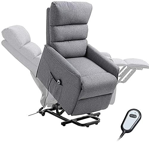 GKPLY Sillón reclinable eléctrico con Control Remoto, sofá Individual de ángulo Ajustable para Ancianos, sofá de Masaje de fácil Movimiento, Muebles de Sala de Estar para Ancianos.