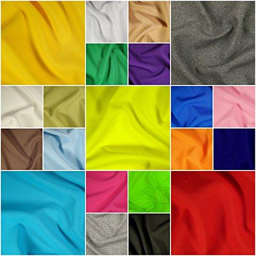 Universalstoff für Mode, Dekoration, Bekleidung – 24 Farben, Meterware ab 50cm, 100% Polyester – blickdicht, knitterarm, pflegeleicht, Allroundstoff Multifunktion (neongrün, 50 x 150 cm)