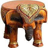 Poufs Banco Reposapiés Banco De Zapatos De Elefante Tailandés, Creativo Salón Pasillo Decoración Animal, Regalo De Bodas De Inauguración (Color : Brown, Size : 27 * 28cm)