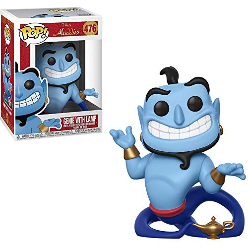 FunkoPOP Aladdin: Genie with Lamp - Vinyl Figure (Bundled with Pop Box Protector Case)