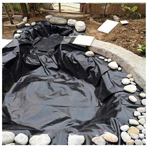 Teichfolie PVC 5 x 4m 5 x 5m Schwarz Teich Folie Gartenteichfolie Gartenteich Koiteich Bachlauf Plane Pond für Gartenteich Stärke, UV-Beständig, Reißfest Umweltfreundlic(Size:5x5M(16x16ft),Color:20S)