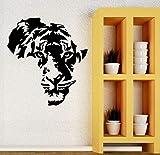fancjj Tigre Animal Cabezas de Vinilo Papel Tapiz Arte Sala de Estar en casa calcomanías de Pared Etiqueta engomada de la decoración Mural 42X44 cm