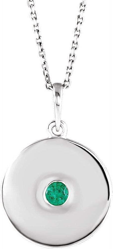 Solitaire Diamond Disc Bargain Charm Pendant Fashion