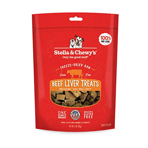 Stella & Chewys Freeze-Dried Raw Beef Liver Treats, 3 oz bag